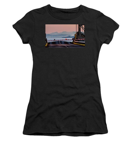 Women's T-Shirt (Junior Cut) featuring the photograph Southworth Ferry Terminal - End Of State Highway 160 by E Faithe Lester