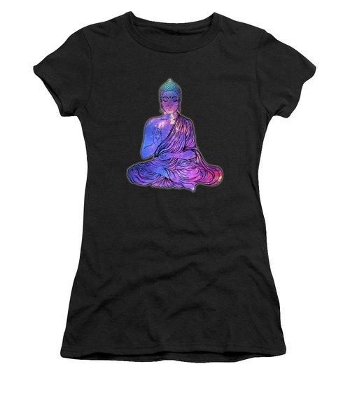 Space Buddha Dictionary Art Women's T-Shirt