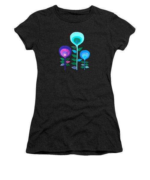 Space Flowers Women's T-Shirt (Athletic Fit)