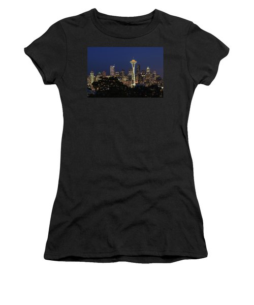 Women's T-Shirt (Junior Cut) featuring the photograph Space Needle by David Chandler