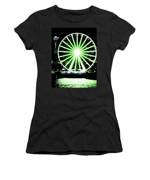 Space Needle Ferris Wheel Women's T-Shirt (Athletic Fit)