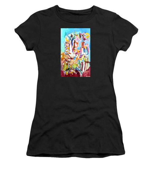 Space Talkers Women's T-Shirt (Athletic Fit)