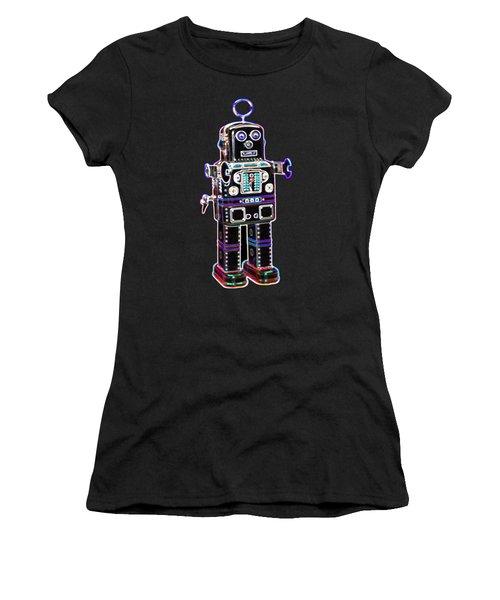 Spaceman Robot Women's T-Shirt (Athletic Fit)