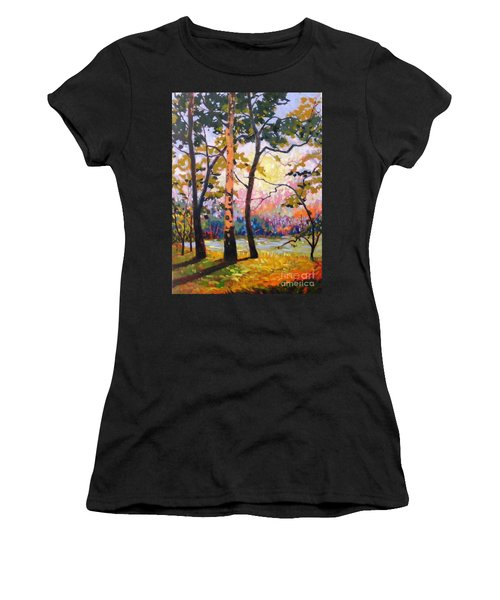 Spanaway Pond Women's T-Shirt (Athletic Fit)