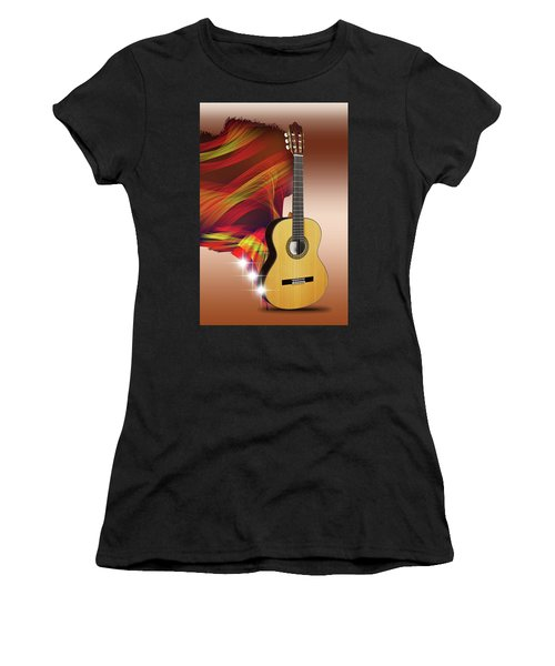 Spanish Guitar Women's T-Shirt (Athletic Fit)