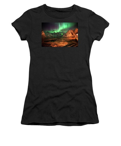 Spectacular Night In Lofoten 1 Women's T-Shirt (Athletic Fit)
