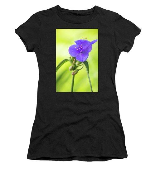 Spiderwort Wildflower Women's T-Shirt
