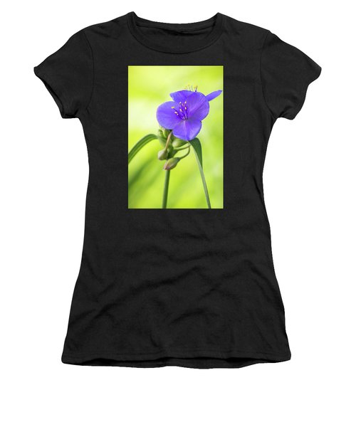 Spiderwort Wildflower Women's T-Shirt (Athletic Fit)