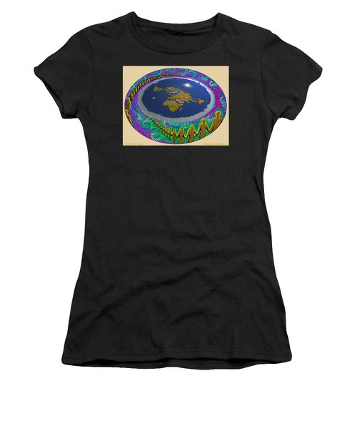 Spiral Of Souls Flat Earth Women's T-Shirt