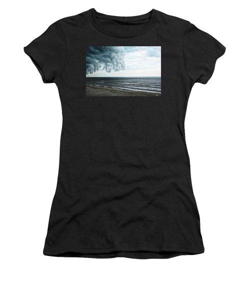 Spiraling Storm Clouds Over Daytona Beach, Florida Women's T-Shirt