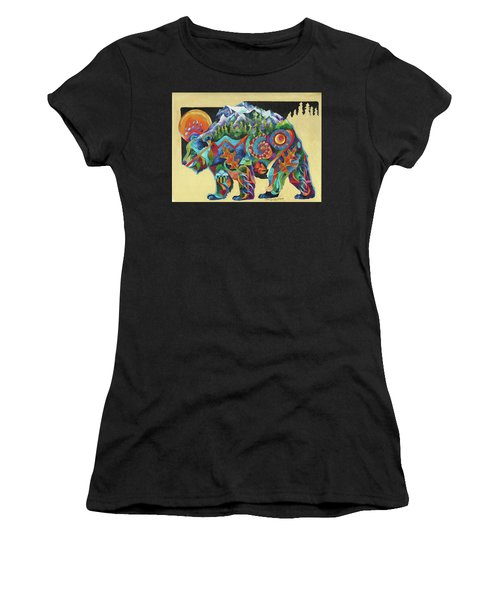 Spirit Bear Totem Women's T-Shirt (Athletic Fit)