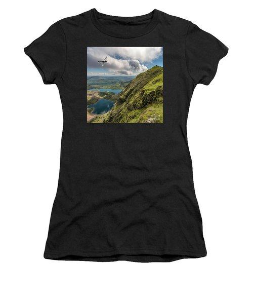 Spitfire Over Snowdon Women's T-Shirt