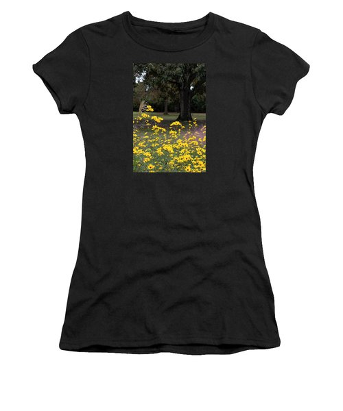 Splashes Of Yellow Women's T-Shirt (Athletic Fit)