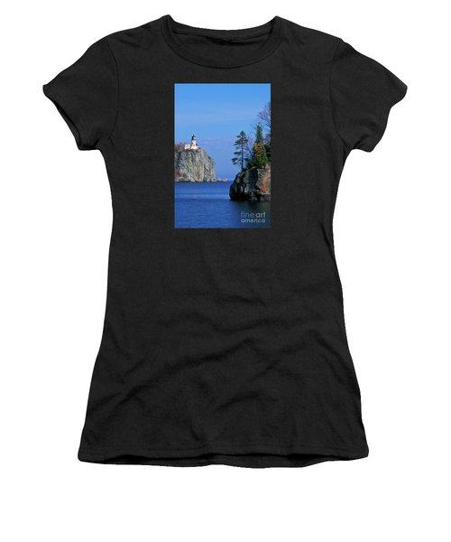 Split Rock Lighthouse - Fs000120 Women's T-Shirt (Athletic Fit)