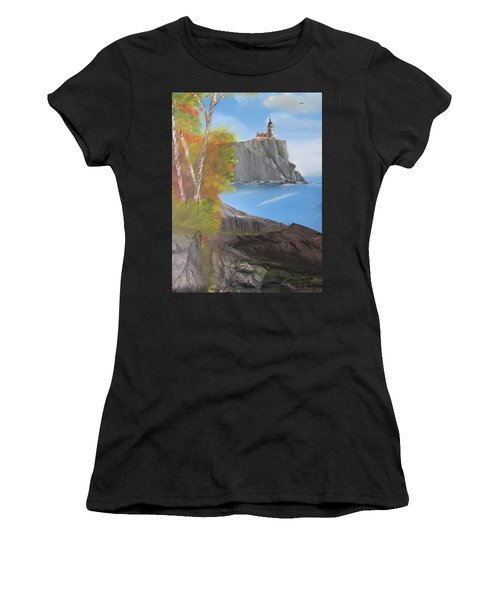 Split Rock Lighthouse Minnesota Women's T-Shirt