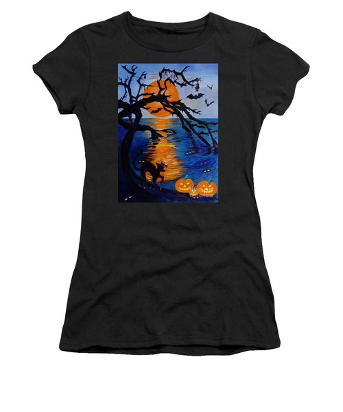 Spooky Hollow - Painting Women's T-Shirt (Athletic Fit)
