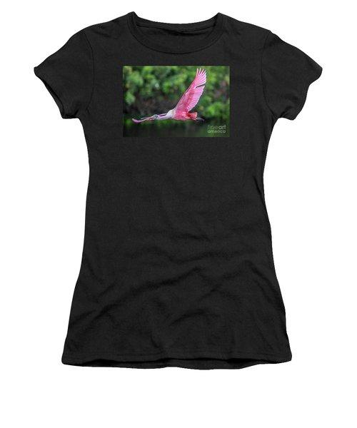 Spoony In Flight Women's T-Shirt (Athletic Fit)