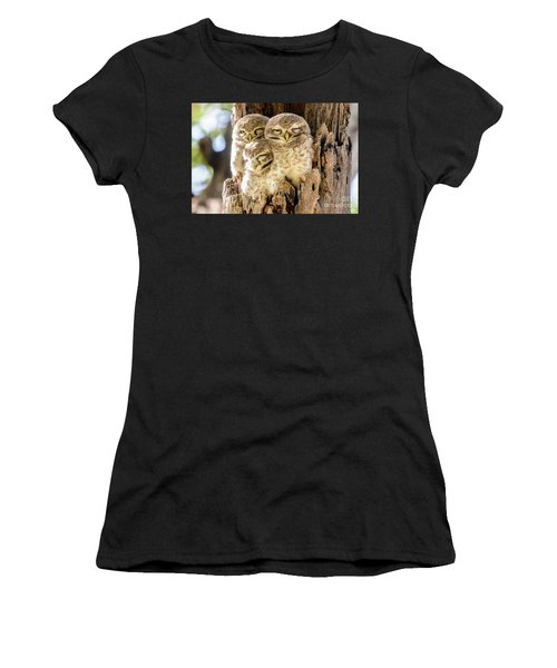 Spotted Owlets Women's T-Shirt (Athletic Fit)