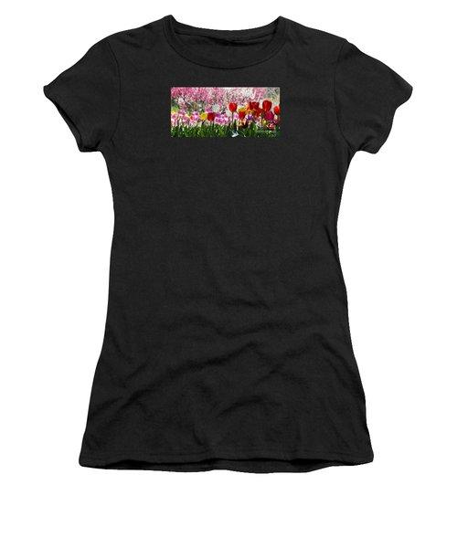 Spring Women's T-Shirt (Junior Cut) by Angela DeFrias