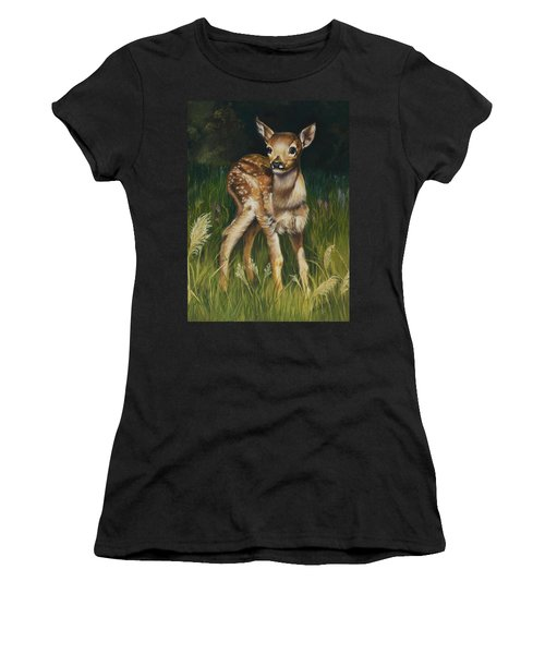 Spring Baby Fawn Women's T-Shirt (Athletic Fit)