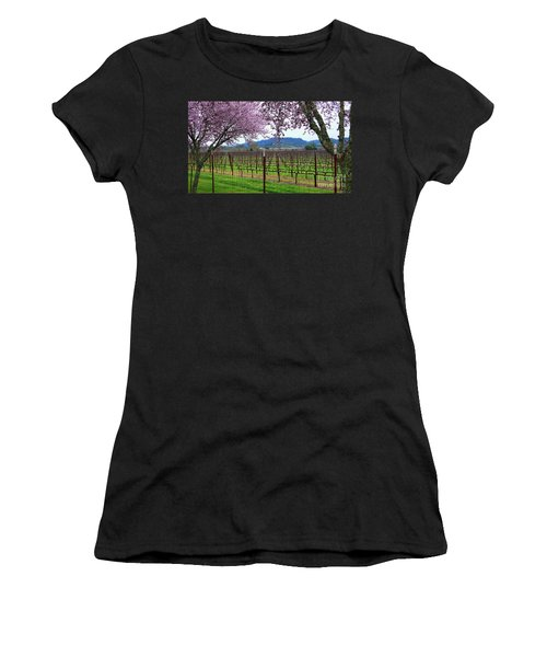 Spring Blossoms Near Calistoga Women's T-Shirt (Athletic Fit)
