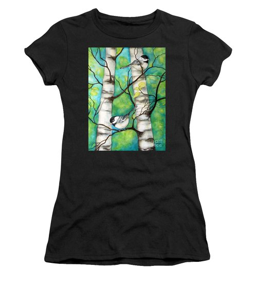 Spring Chickadees Women's T-Shirt