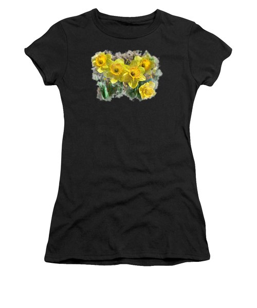 Spring Daffodils Watercolor Art Women's T-Shirt