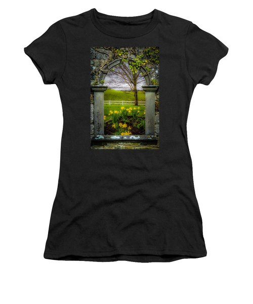Women's T-Shirt (Athletic Fit) featuring the photograph  Spring In Ballynacally, County Clare by James Truett