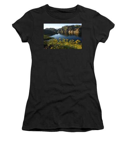 Spring Morning At The Lake Women's T-Shirt (Athletic Fit)