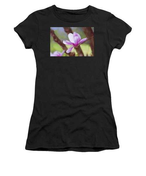 Spring Pink Saucer Magnolia Women's T-Shirt