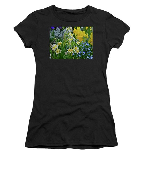 Women's T-Shirt (Athletic Fit) featuring the photograph Spring Show 18 A Sea Of Daffodils by Janis Nussbaum Senungetuk