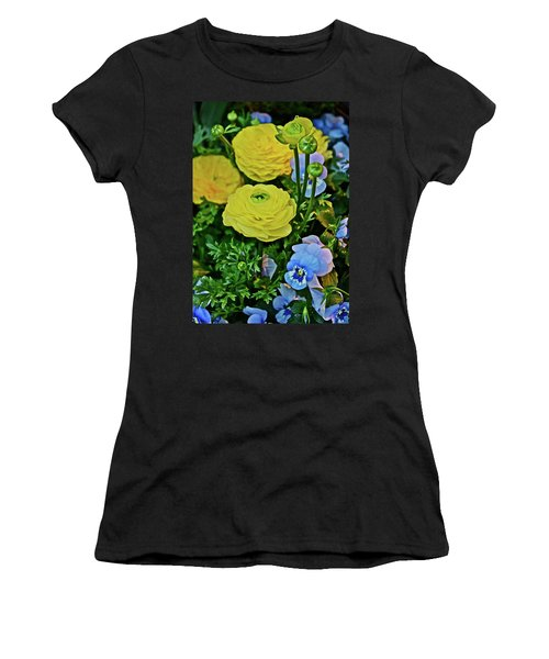 Spring Show 18 Persian Buttercup With Horned Viola Women's T-Shirt