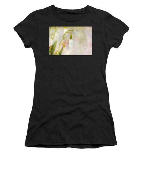 Spring Snowdrops And Bokeh Women's T-Shirt