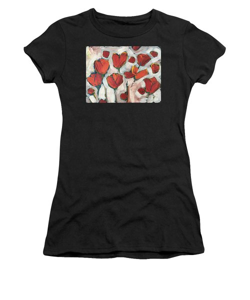 Spring Tulip Garden Women's T-Shirt (Athletic Fit)