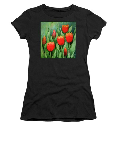 Spring Tulips Women's T-Shirt (Athletic Fit)