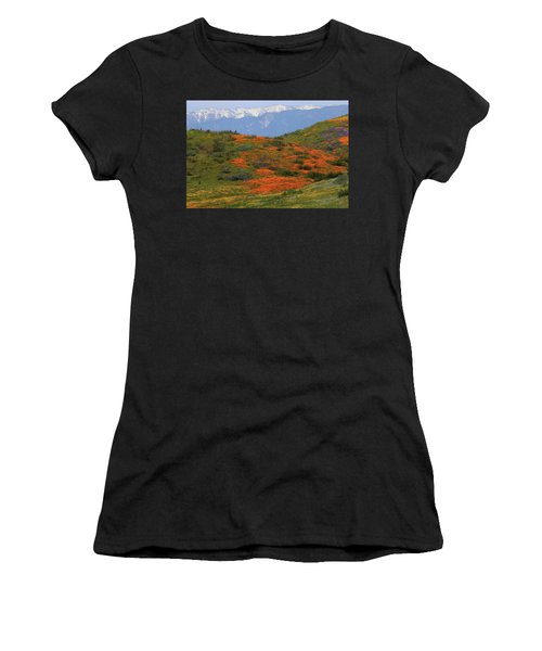 Spring Wildflower Display At Diamond Lake In California Women's T-Shirt (Athletic Fit)
