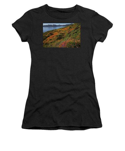 Spring Wildflower Season At Diamond Lake In California Women's T-Shirt (Athletic Fit)