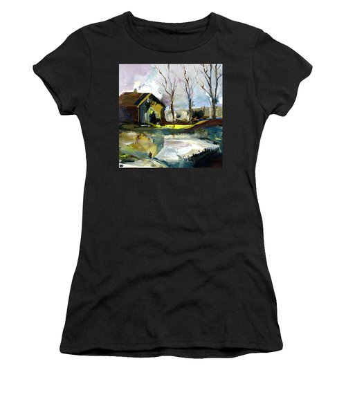 Springtime Barn Women's T-Shirt (Athletic Fit)