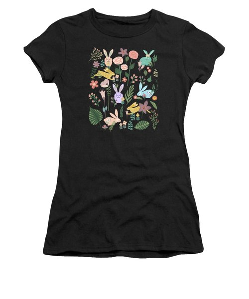 Springtime In The Bunny Garden Of Floral Delights Women's T-Shirt