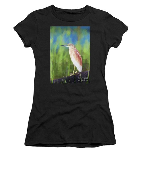 Squacco Heron Ardeola Ralloides Women's T-Shirt (Athletic Fit)