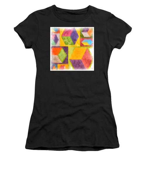 Square Cubes Abstract Women's T-Shirt