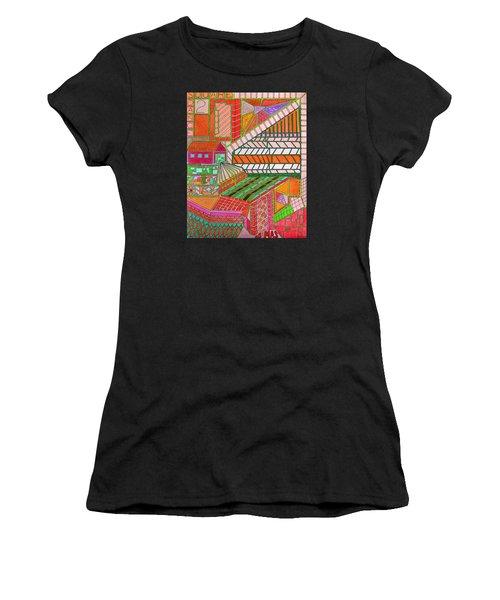 Square Dance 2 Women's T-Shirt (Athletic Fit)
