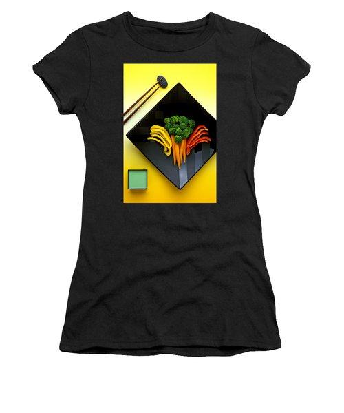 Square Plate Women's T-Shirt (Junior Cut) by Garry Gay