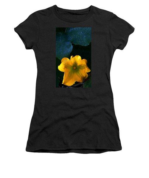 Women's T-Shirt (Junior Cut) featuring the photograph Squash Blossom by Lenore Senior