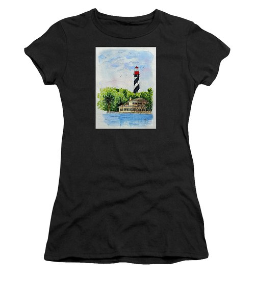 St Augustine Lighthouse  Women's T-Shirt (Athletic Fit)