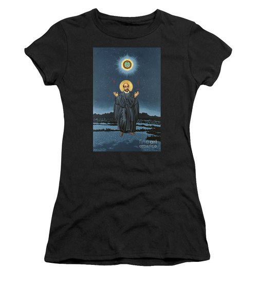 St. Ignatius In Prayer Beneath The Stars 137 Women's T-Shirt