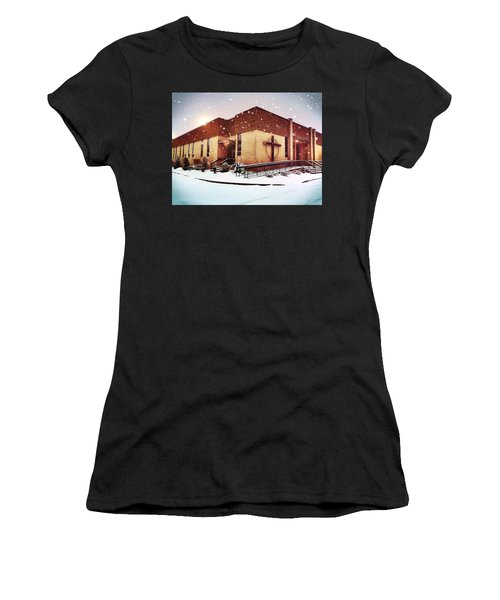 St. Isaac Jogues In The Snow Women's T-Shirt