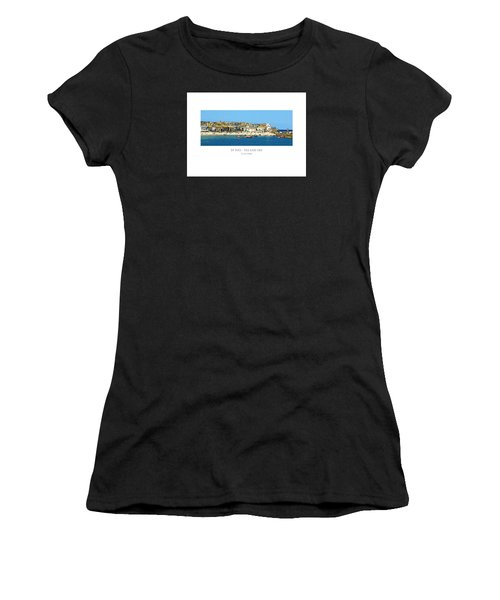 Women's T-Shirt featuring the digital art St Ives Sea And Sky by Julian Perry