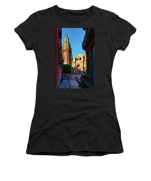 St Mary's Cathedral - Catholic Cathedral In Toledo, Chair Of The Primate Of Spain, The Main Cathedra Women's T-Shirt (Athletic Fit)