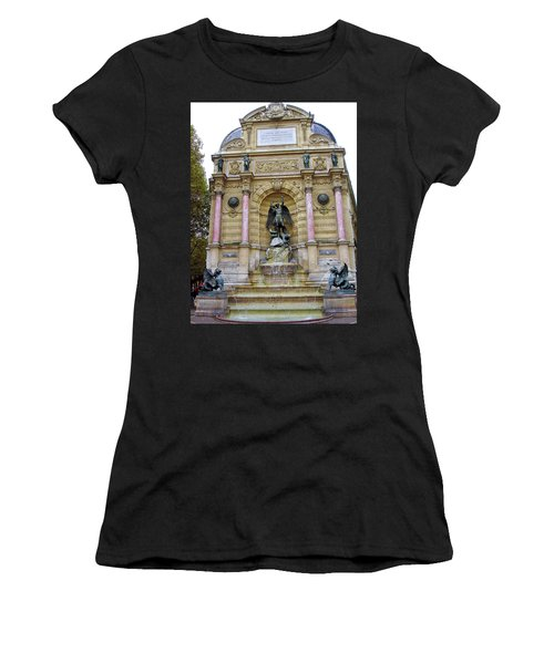 St. Michael's Fountain Women's T-Shirt (Athletic Fit)